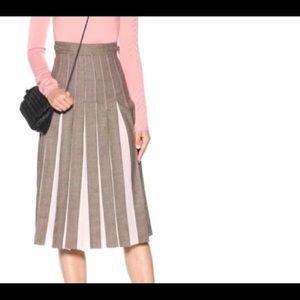 Gabriela Hearst Binka Wool Silk Pleated Skirt Sz 6